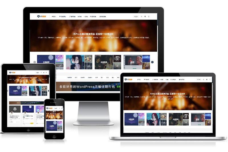 免费丨WordPress主题:日主题RiPro v8.1 – 适合资源、素材、源码站