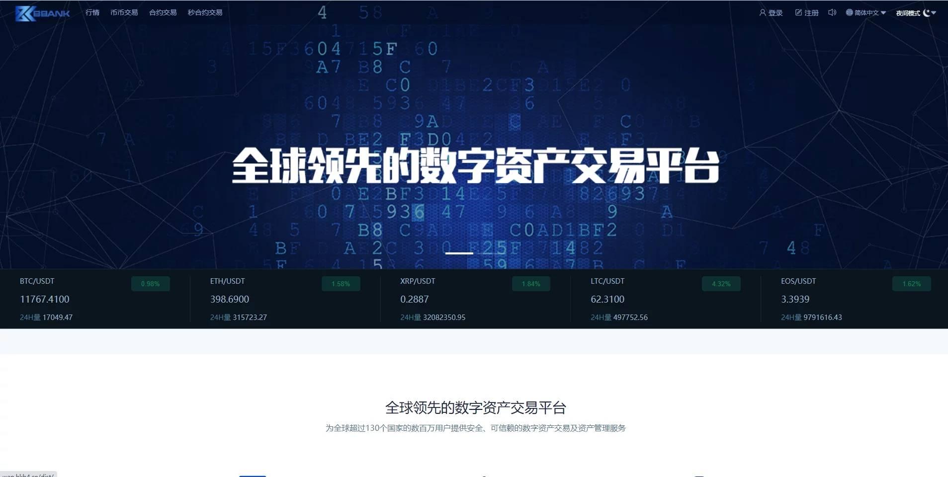 多语种数字资产交易所虚拟货币交易平台 源码下载