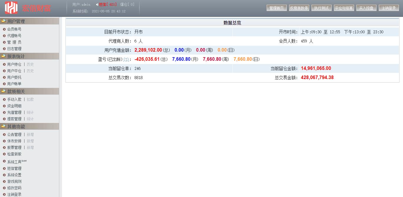 金股利交易平台网站股票交易源码模拟交易模拟盘系统丨亲测源码下载